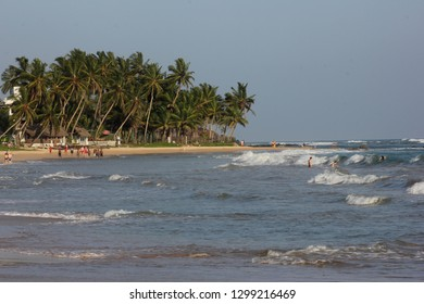 Mirissa, Sri Lanka - April 20, 2013: A view of the beautiful Mirissa Beach on a sunny day!