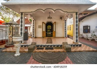 MIRISSA, SRI LANKA - January 11, 2017: Entrance to Buddhist temple. Sri lanka, Mirissa