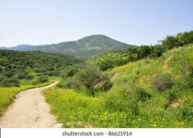 Miron mountain in Galilee, Israel.