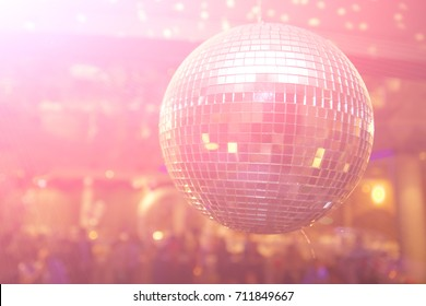 mirror ball in the disco