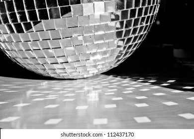 Mirror ball sitting on table