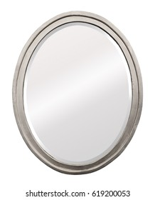 Mirror in a beautiful carved silver frame