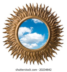 mirror in figured framework (lot)