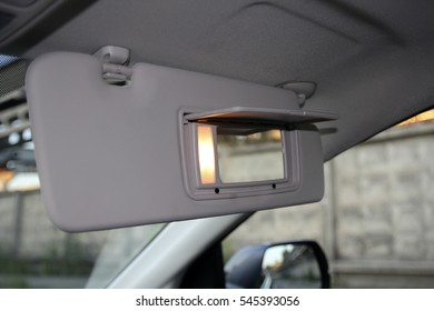 mirror for the front passenger, with backlight