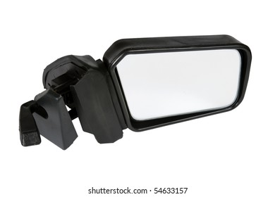 ?ar mirror isolated on white with clipping path