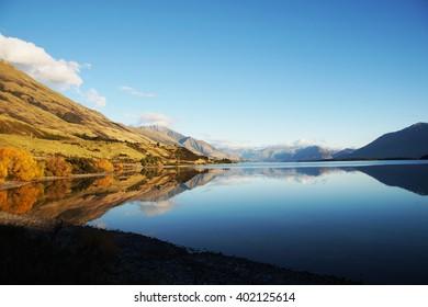 Mirror lake , New Zealand