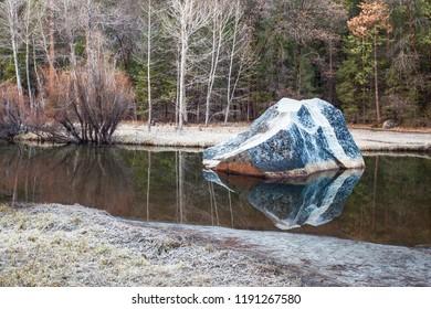 Mirror Lake Trail at Yosemite National Park