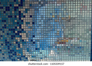 mirror mosaic. texture. in the bathroom or pool