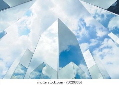 mirror reflect sky