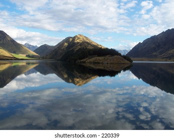 Mirror reflection at Moke Lake Queenstown