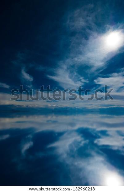 Mirror Salar De Uyuni Bolivia Stock Photo Edit Now 132960218