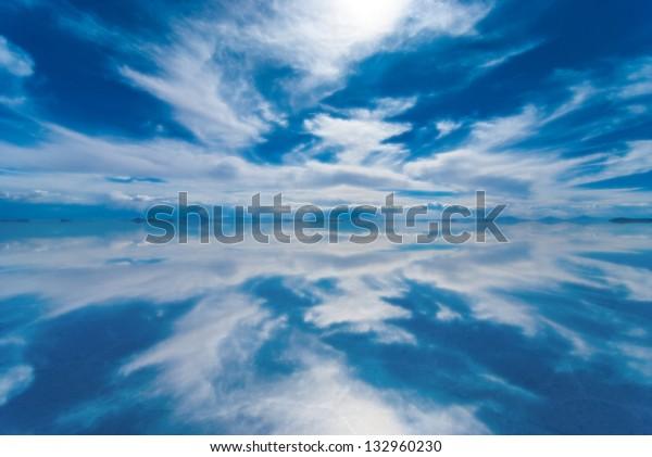 Mirror Salar De Uyuni Bolivia Stock Image Download Now