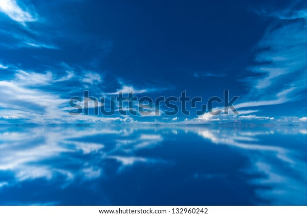 Mirror Salar De Uyuni Bolivia Stock Photo Edit Now 132960242