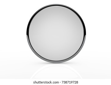 Mirror template on white background isolated - 3D Rendering