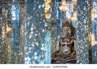 Mirror temple with Buddha statue