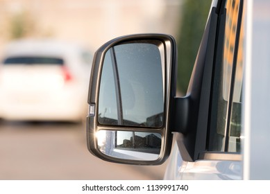 A mirror from a truck