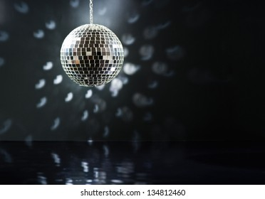 Mirrorball over the dance floor