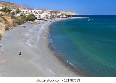 Mirtos bay and beach at Crete island in Greece, near Ierapetra city