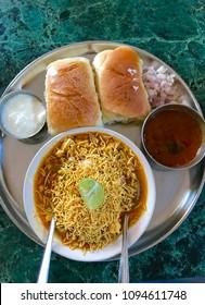 Misal pav, a Maharashtrian dish
