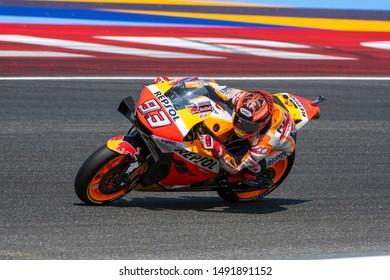 Misano Adriatico, Italy, August 30 2019 93 Marc Márquez Repsol Honda Team  during Official Test MotoGP In Misano Adriatico (RN) 2019 MotoGP
