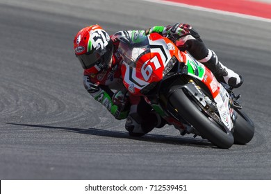 Misano Adriatico, Italy - July 29, 2017:Ducati of VFT Racing, driven by MENGHI Fabio in action during the Superbike Race 1 during the CIV 2017 at Misano World Circuit
