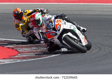 Misano Adriatico, Italy - July 29, 2017:Bmw of Tutapista Corse Racing Team, driven by LANZI Lorenzo in action during the Superbike Race 1 during the CIV 2017 at Misano World Circuit