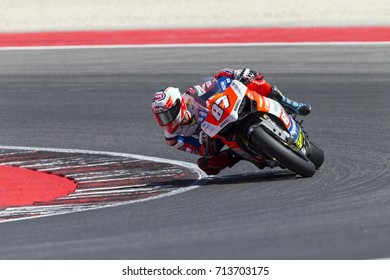 Misano Adriatico, Italy - July 29, 2017:Ducati of Motocorsa Racing Team, driven by ZANETTI Lorenzo in action during the Superbike Race 1 during the CIV 2017 at Misano World Circuit