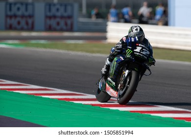 Misano Adriatico, Italy, September 13 2019 MAVERICK VINALES, SPANISH RIDER NUMBER 12 FOR YAMAHA MONSTER TEAM IN MOTOGP  during Friday Free Practice (fp1-fp2) Of The Motogp Of San Marino And Riviera O
