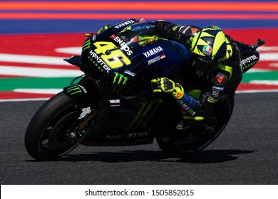 Misano Adriatico, Italy, September 13 2019 VALENTINO ROSSI, ITALIAN MOTOGP RIDER NUMBER 46 FOR YAMAHA MONSTER TEAM  during Friday Free Practice (fp1-fp2) Of The Motogp Of San Marino And Riviera Of Ri