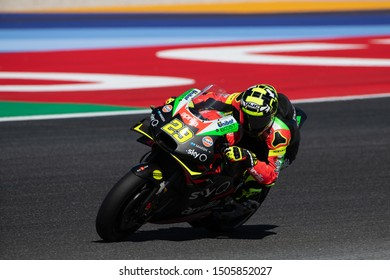 Misano Adriatico, Italy, September 13 2019 ANDREA IANNONE, ITALIAN RIDER NUMBER 29 FOR APRILIA RACING IN MOTOGP  during Friday Free Practice (fp1-fp2) Of The Motogp Of San Marino And Riviera Of Rimin