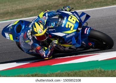 Misano Adriatico, Italy, September 13 2019 JOAN MIR, SPANISH RIDER NUMBER 36 FOR SUZUKI TEAM IN MOTOGP  during Friday Free Practice (fp1-fp2) Of The Motogp Of San Marino And Riviera Of Rimini  MotoGP