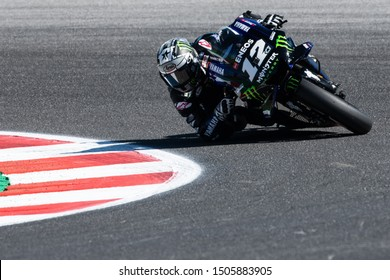 Misano Adriatico, Italy, September 14 2019 MAVERICK VINALES, SPANISH RIDER NUMBER 12 FOR YAMAHA MONSTER TEAM IN MOTOGP  during Saturday Free Practice & Qualifications Of The Motogp Of San Marino And