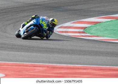 Misano Adriatico, Italy, September 15 2019 JOAN MIR, SPANISH RIDER NUMBER 36 FOR SUZUKI TEAM IN MOTOGP  during Sunday Warm-up & Race Of The Motogp Of San Marino And Riviera Of Rimini  MotoGP World Ch