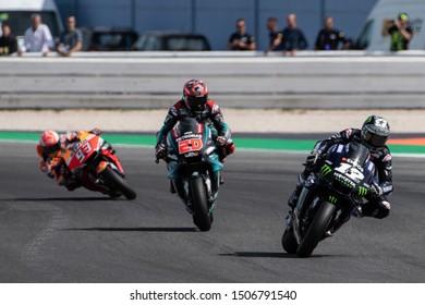 Misano Adriatico, Italy, September 15 2019 MOTOGP RACE. RIDERS: MAVERICK VINALES 12 LEADING, FABIO QUARTARARO 20, MARC MARQUEZ 93.  during Sunday Warm-up & Race Of The Motogp Of San Marino And Rivier