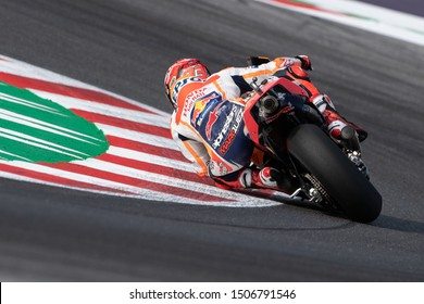 Misano Adriatico, Italy, September 15 2019 MARC MARQUEZ, SPANISH RIDER AND MOTOGP WORLD CHAMPION WITH NUMBER 93 FOR REPSOL HONDA TEAM  during Sunday Warm-up & Race Of The Motogp Of San Marino And Riv