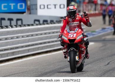 Misano Adriatico, Italy, September 15 2019 MICHELE PIRRO, ITALIAN DUCATI WILDCARD NUMBER 51 IN MOTOGP  during Sunday Warm-up & Race Of The Motogp Of San Marino And Riviera Of Rimini  MotoGP World Cha