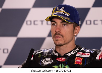 Misano Adriatico, Italy, September 15 2019 MAVERICK VINALES, SPANISH RIDER NUMBER 12 FOR YAMAHA MONSTER TEAM IN MOTOGP  during Thursday And Sunday Press Conference Of The Motogp Of San Marino And Riv