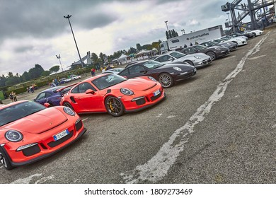 Misano Adriatico, Rimini/Italia - October 2 2016: Porsche festival, an exhibition and event for charity with the sale of sports memorabilia for charity to civil protection relief august earthquake