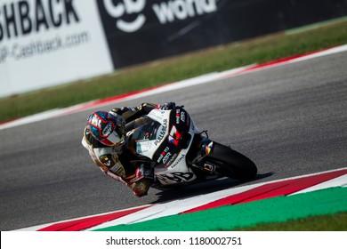MISANO, ITALY - SEPTEMBER 09, 2018: Czech Ducati rider Karel Abraham at  OCTO MotoGP of San Marino