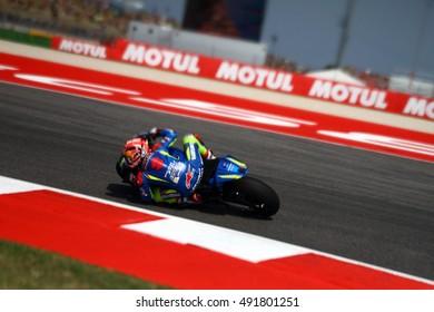 MISANO - ITALY, SEPTEMBER 10: Spanish Suzuki rider Maverick Vinales at 2016 TIM MotoGP of San Marino at Marco Simoncelli circuit in Misano on September 10, 2016