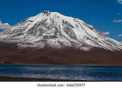 Miscanti lake and volcano