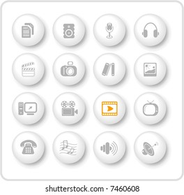 Miscellaneous multimedia raster icons. Vector version is available in my portfolio