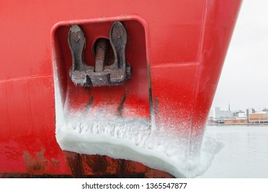 Miscellaneous Objects Winter Frozen Ship Anchor Ice Hull