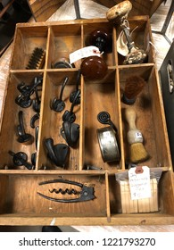 Miscellaneous Objects in a Wooden Box