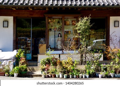 Miscellaneous Street Shop. Traditional Japanese store front. Kamakura, Japan.