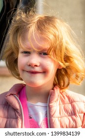 Mischievously funny naughty portrait of a girl