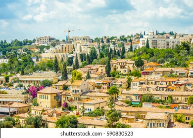 Mishkenot Sheananim, the first jewish quarter outside the walls, Jerusalem