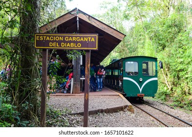 Misiones, Argentina; June 27, 2015;  Train that takes to the Iguazu Waterfalls