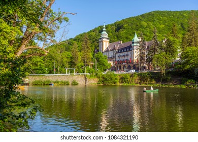 Miskolc, Hungary - April 28, 2018: Lillafured Palota Szallo (palace hotel) near Miskolc, Hungary.