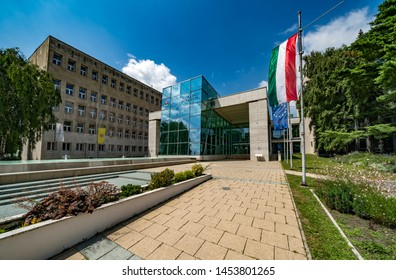 MISKOLC, HUNGARY - JULY 17, 2019: Main building of University of Miskolc, Hungary.